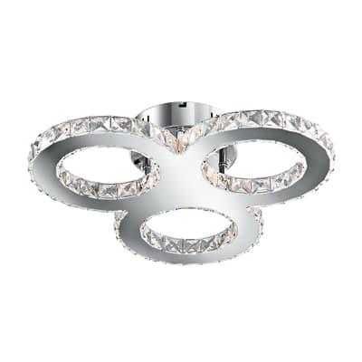 Plafoniera Melody bianco, in metallo, 12.5x50 cm, LED integrato 27W IP20