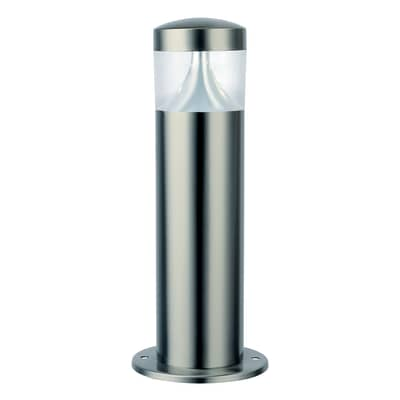 Palo della luce Valencia H40cm LED integrato in acciaio inossidabile argento 7W 400LM IP44 INSPIRE