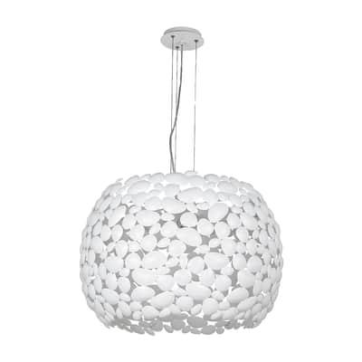 Lampadario Dioniso bianco, in metallo, diam. 65 cm, E27 5xMAX42W IP20