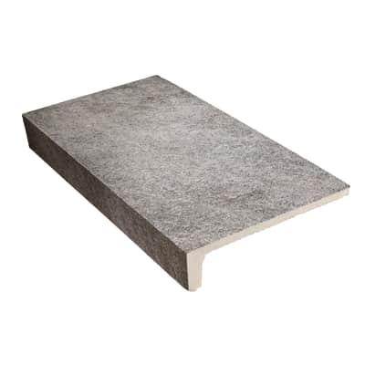 Gradino Ardesia H 15 x L 30 cm grigio / argento