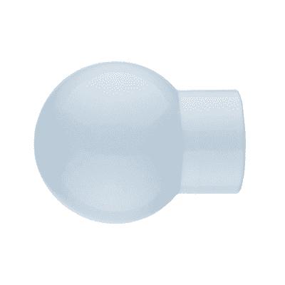 Finale per bastone Nilo sfera in metallo Ø20mm bianco lucido INSPIRE Set di 2 pezzi