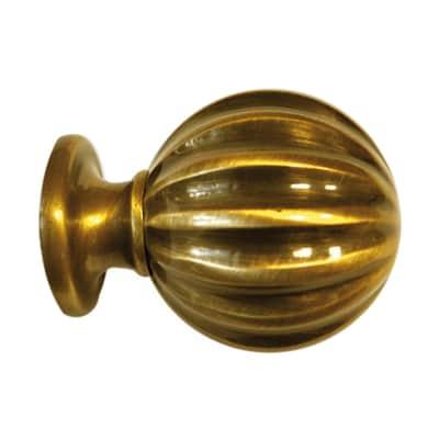 Finale per bastone Lena sfera Ø28mm ottone lucido