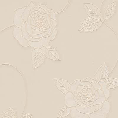 Carta da parati Fiore rosa/beige