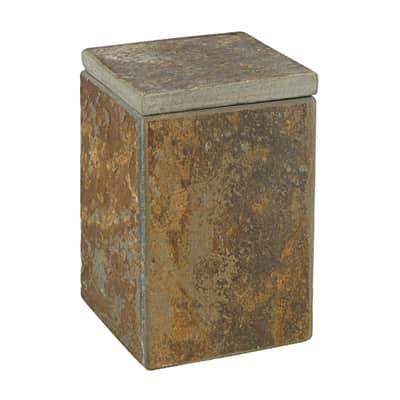 Porta cotone Heavy Rock in pietra naturale marrone