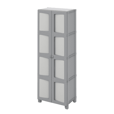 Armadio Modulize tuttopiani L 65 x P 40 x H 180 cm grigio