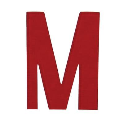 Lettera M adesivo, 15 x 10 cm