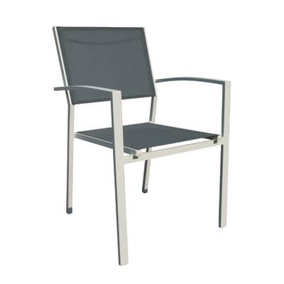 Sedia da giardino senza cuscino in alluminio Tokyo colore grigio