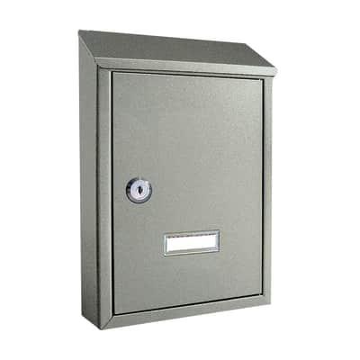 Cassetta postale ALUBOX formato Lettera, argento, L 21.5 x P 6.5 x H 30.5 cm
