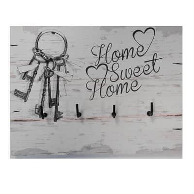 Bacheca Home sweet home 3 ganci multicolore 200 x 150 mm x 1 cm