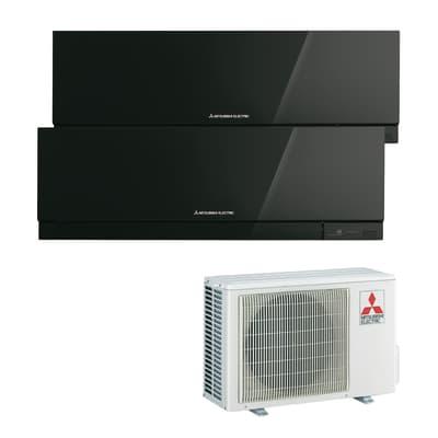 Climatizzatore dualsplit MITSUBISHI Kirigamine Zen nero 18000 BTU classe A++