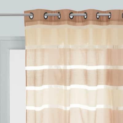 Tenda Shantung beige pietra occhielli 140x280 cm