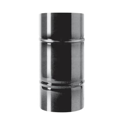 Tubo Tubo m.0,5 smaltato nero Dn 80 mm in acciaio al carbonio smaltato L 25 cm x Ø 80 mm