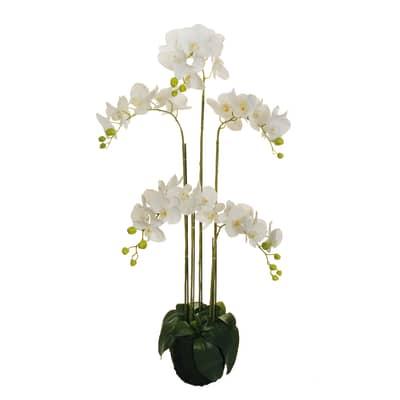 Fiore artificiale Orchidea in Real Touch H 125 cm
