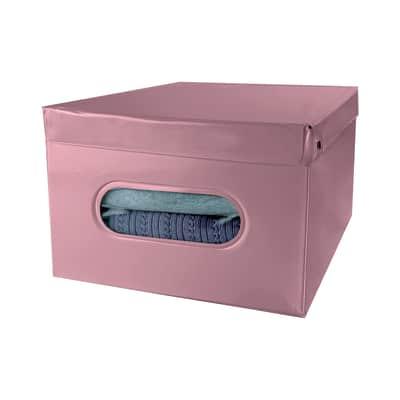 Contenitore L 40 x H 25 x P 50 cm rosa antico