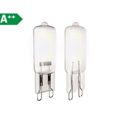 Set di 2  lampadine LED, G9, Capsula, Trasparente, Luce naturale, 3.7W=400LM (equiv 40 W), 250° , XANLITE
