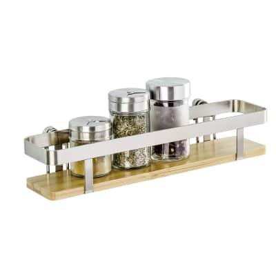 Ripiano per le spezie adesivo argento P 70 cm x L 300 x H 55 mm