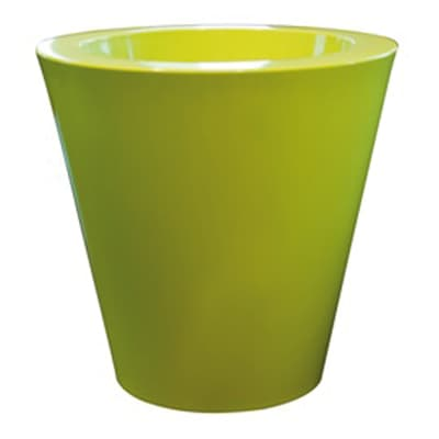 Vaso Shining in plastica colore verde H 50 cm, Ø 50 cm