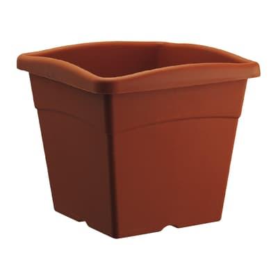 Vaso Festo in plastica colore cotto H 30.9 cm, L 35 x P 35 cm