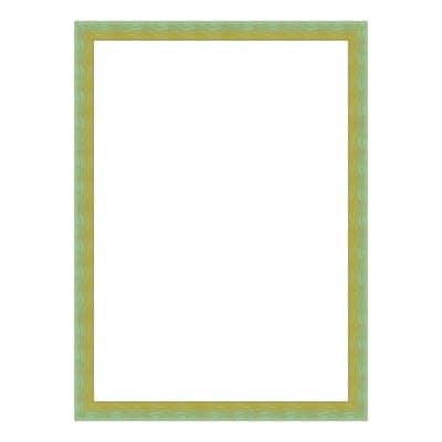 Cornice INSPIRE Bicolor verde / giallo per foto da 30X30 cm