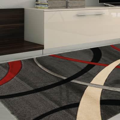 Tappeto Terra , rosso e grigio, 160x230 cm