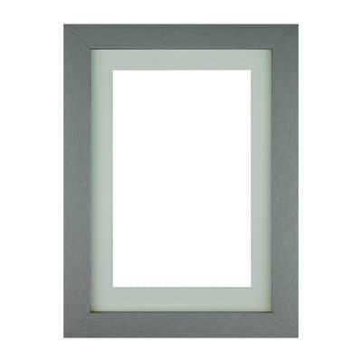 Cornice con passe-partout Inspire milo argento 13x18 cm
