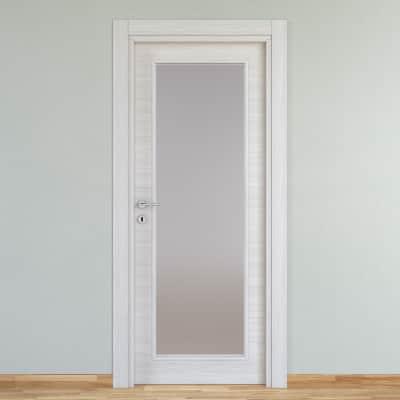Porta a battente Pigalle Vetrata palissandro bianco L 70 x H 210 cm reversibile