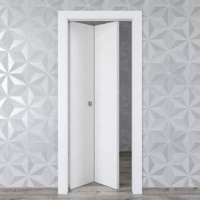 Porta pieghevole Hunk Cemento calce L 70 x H 210 cm sinistra