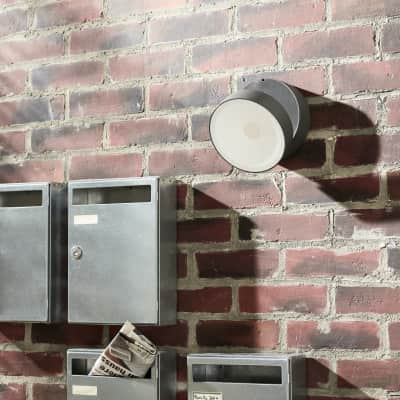 Applique Pando LED integrato in alluminio, grigio, 15.5W 1700LM IP54 INSPIRE