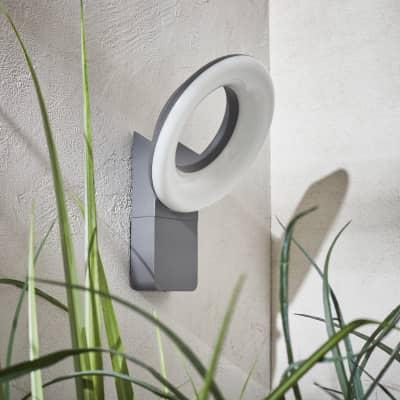 Applique Quito LED integrato in alluminio, grigio, 16W 1100LM IP54 INSPIRE