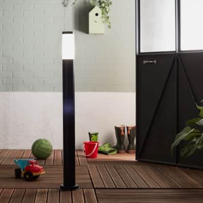 Palo della luce Travis H100.0cm in acciaio inossidabile, nero, E27 1xMAX40W IP44 INSPIRE