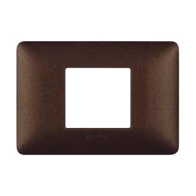 Placca BTICINO Matix 2 moduli marrone caffè