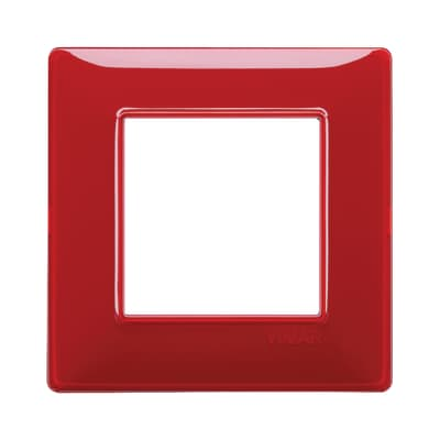 Placca VIMAR Plana 2 moduli reflex rubino