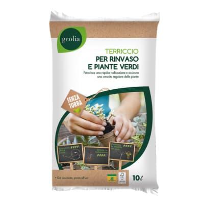 Terriccio GEOLIA per piante verdi 10 L