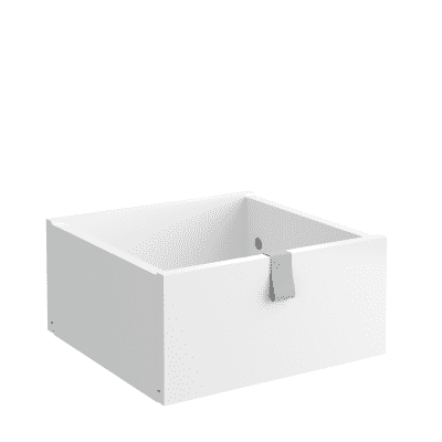 Cassetto SPACEO Kub L 32.4 x H 15 x P 31.6 cm bianco