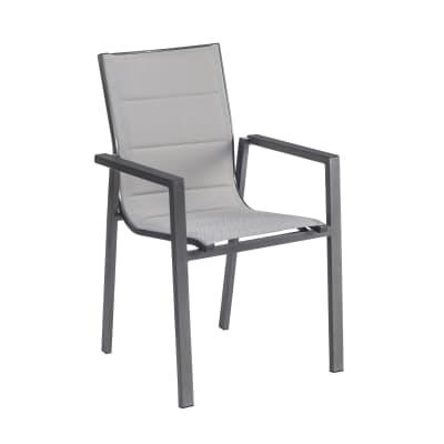 Sedia con braccioli senza cuscino in alluminio Orion Gamma NATERIAL colore marrone