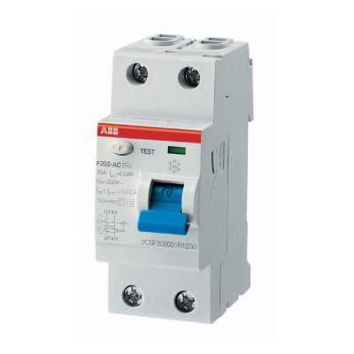 Interruttore differenziale puro ABB ELF202-25003A 2 poli 25A 30mA AC 2 moduli 230V