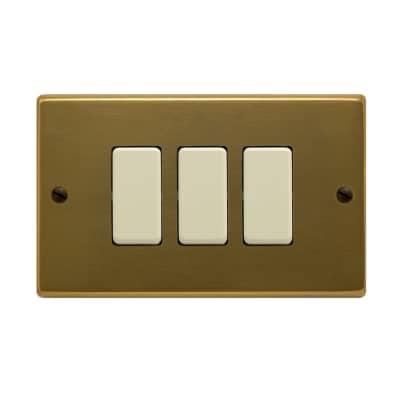 Placca FEB Laser 3 moduli bronzo compatibile con magic