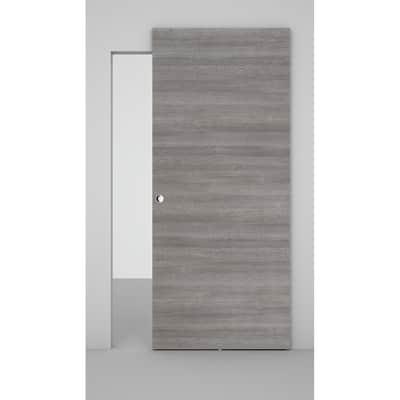 Porta scorrevole con binario esterno Space in legno Binario nascosto L 101 x H 230 cm sx