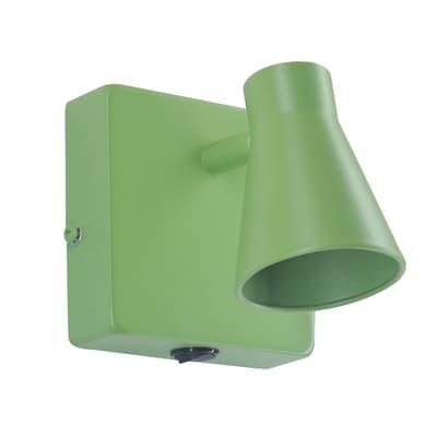 Faretto a muro Szari verde, in metallo, GU10 7W IP20 INSPIRE