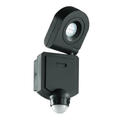 Proiettore LED integrato SHEDAR/S10W in metallo, nero, 10W 720LM IP44