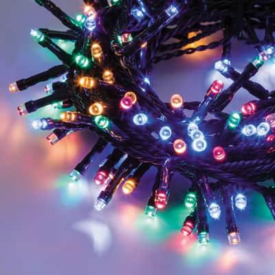 Catena luminosa 600 lampadine LED multicolore 24.5 m
