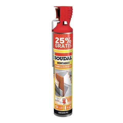 Schiuma poliuretanica SOUDAL   giallo per tegola 600+150  ml