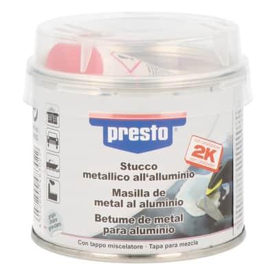 Stucco di riparazione metallo e calcestruzzo e legno e plastica rigida PRESTO metallico  250 g
