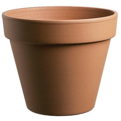 Vaso Comune in terracotta colore cotto H 23.7 cm, Ø 27 cm