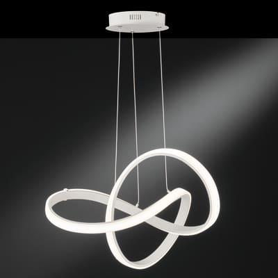 Lampadario Moderno Indigo LED integrato bianco, in metallo, L. 55 cm, WOFI