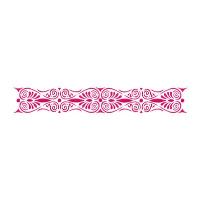 Stencil tema oggetto per la casa LES DECORATIVES Ornamento greco 40.0 x 0.1 cm