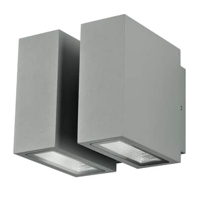 Applique Beta LED integrato in alluminio, argento, 12W 1000LM IP54