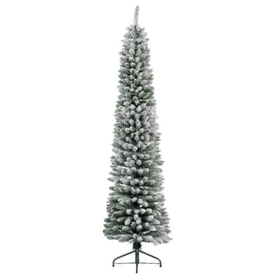 Albero Di Natale Leroy Merlin.Albero Di Natale Artificiale Slim Innevato Bianco H 180 Cm Prezzo Online Leroy Merlin