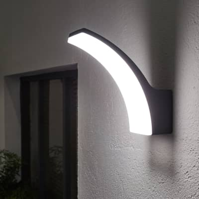 Applique Lakko LED integrato in alluminio, grigio, 11.0W 1200LM IP44 INSPIRE