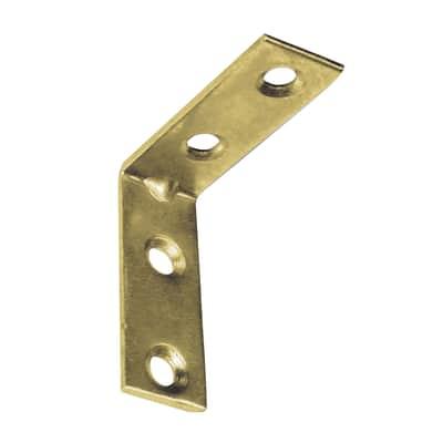 Piastra angolare standers acciaio zincato L 60 x Sp 1.8 x H 15 mm  4 pezzi